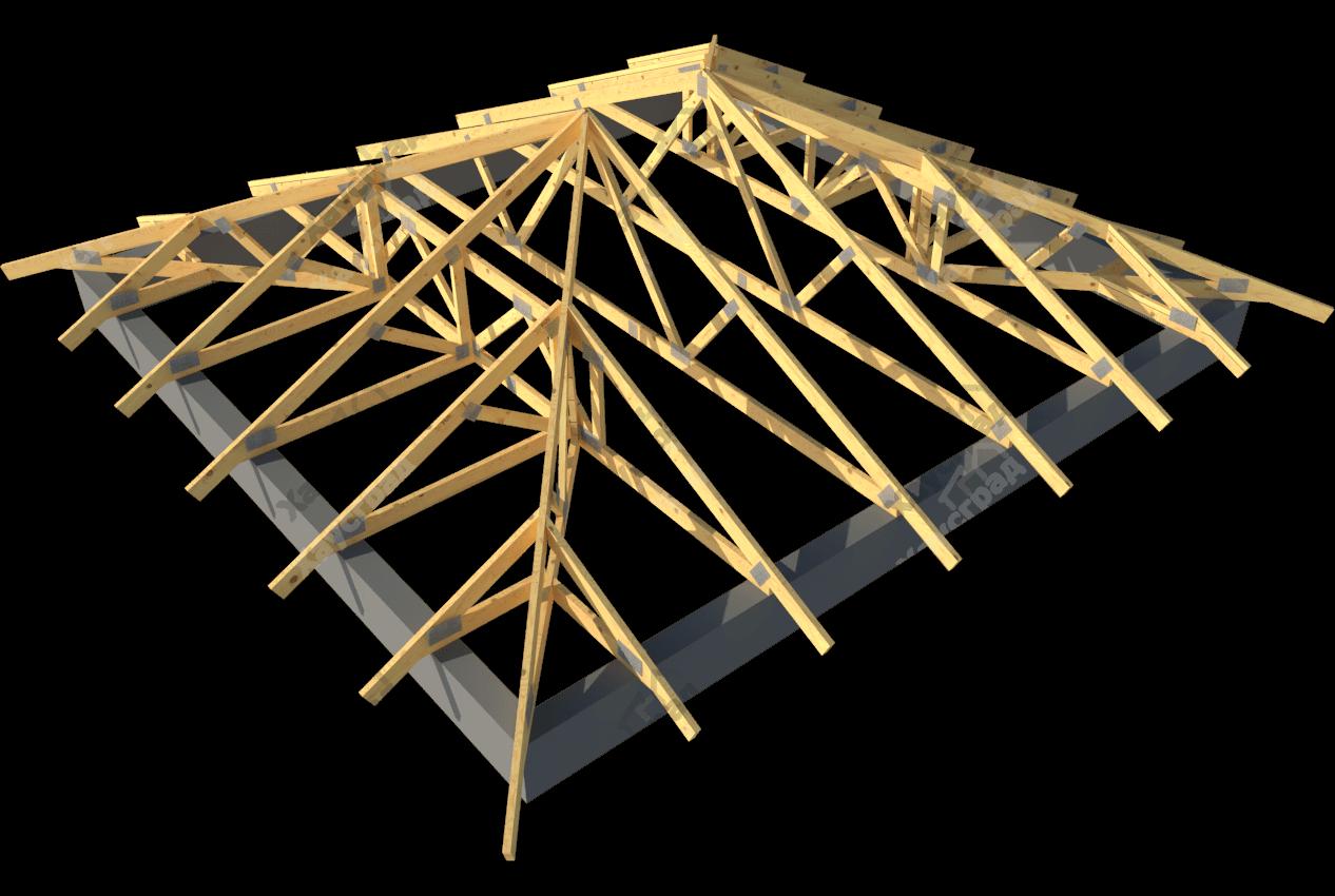 Каркас вальмовой крыши своими руками