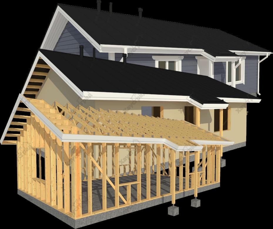 варианты строительства каркасных домов