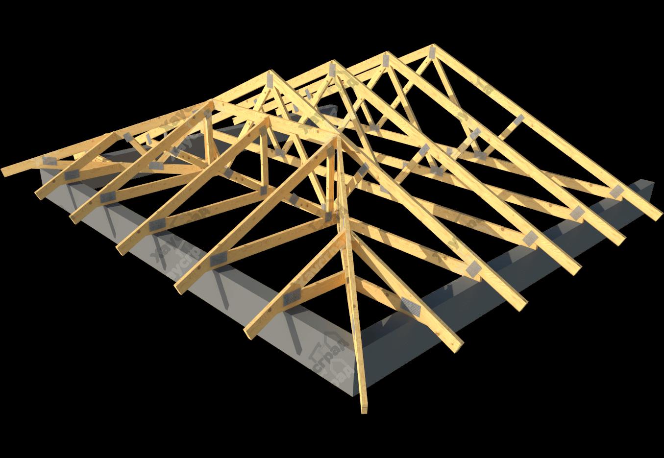 Стропильная система голландской крыши
