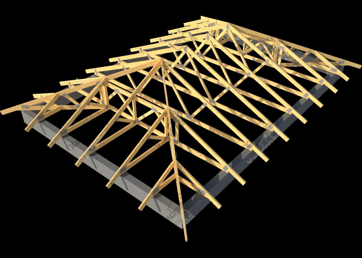 Стропильная система крыши конверт