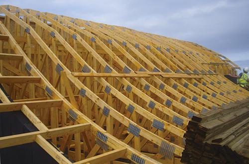 деревянные фермы арочной крыши
