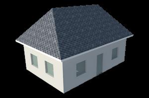 Четырехскатная крыша конверт
