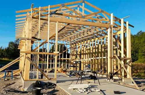 деревянные фермы двускатной крыши