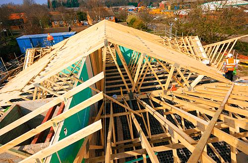 деревянные фермы г-образной крыши