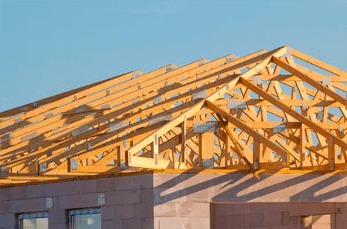 деревянные фермы крыши конвертом