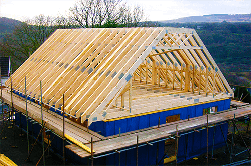 деревянные фермы мансардной крыши