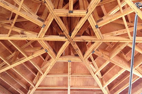 деревянные фермы шатровой крыши