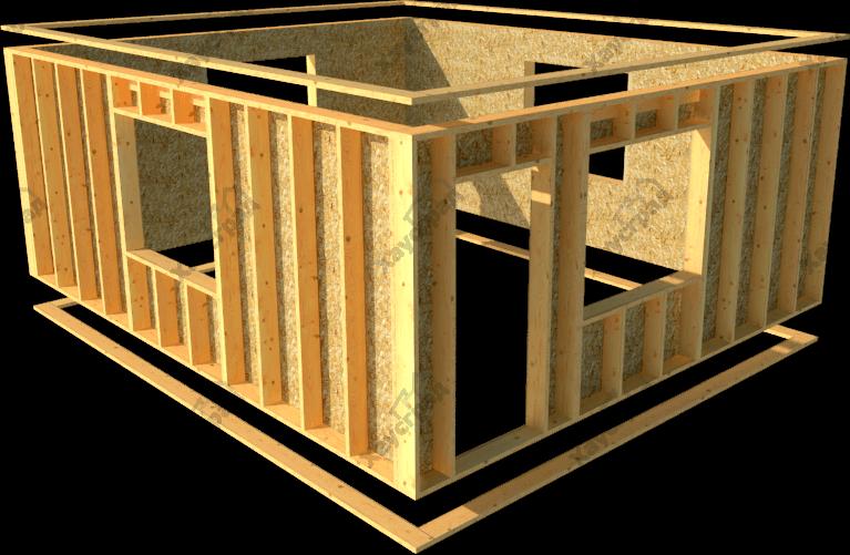 домокомплект каркасного дома из панелей
