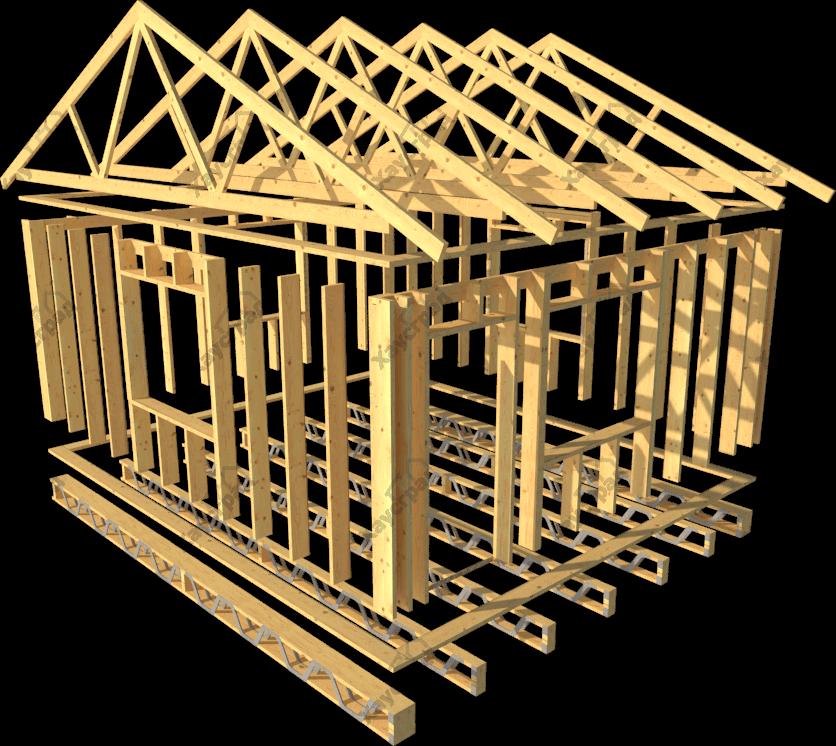 построить каркасный загородный дом