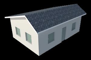 Крыша с разными скатами