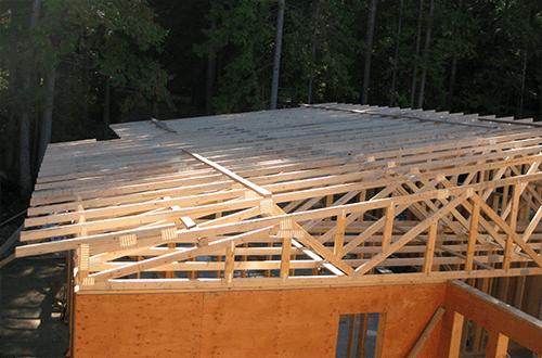 стропильные фермы односкатной крыши