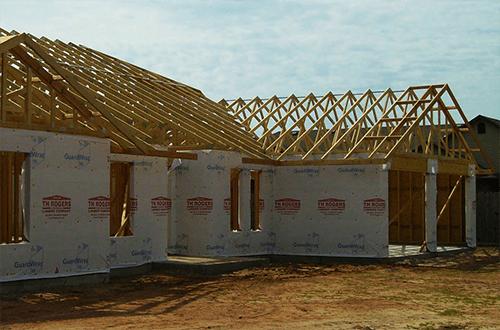 стропильная система г-образной крыши