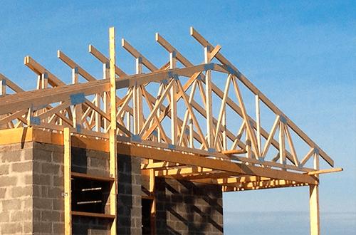 стропильная система крыши с разными скатами