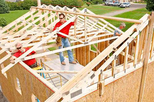стропильная система треугольной крыши