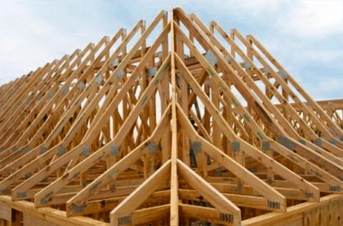 стропильные фермы четырехскатной крыши