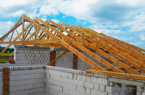 стропильные фермы двускатной крыши