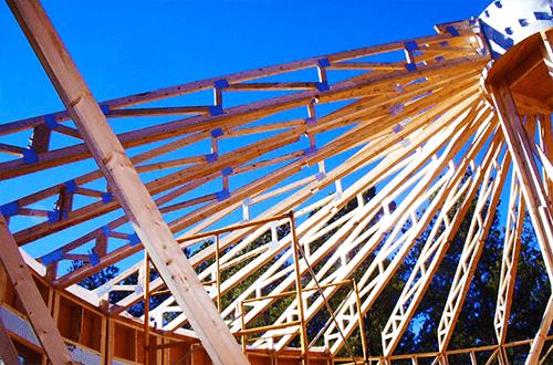 стропильные фермы купольной крыши