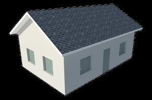 Треугольная двускатная крыша