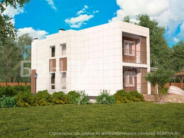 Проект двухэтажного коттеджа МС-198 10,6х13,2 из жби панелей