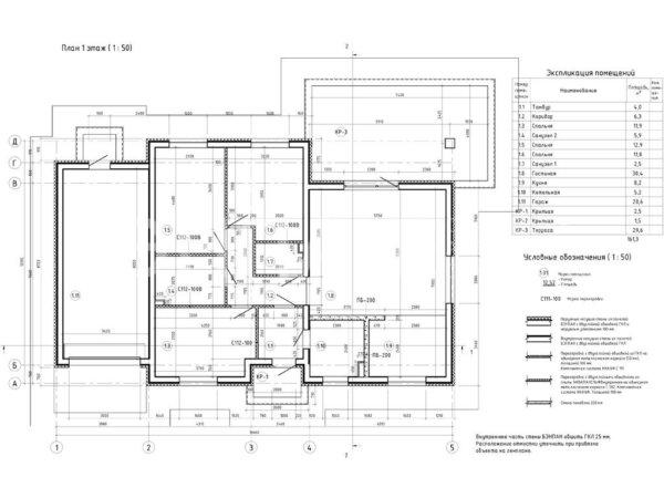 Проект дома МС-162 10,2х16,6 м из бетонных панелей БЭНПАН