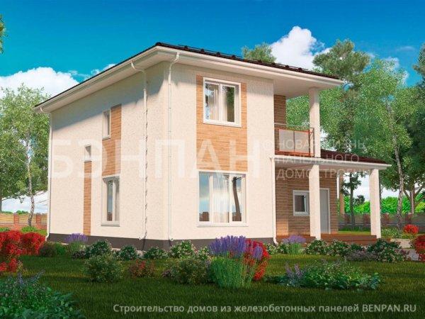 Проект 2-этажного дома МС-191 11,3х11,6 из бетонных панелей