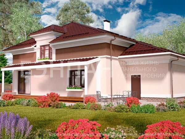 Проект 2х этажного дома МС-215 11,7х16,0 из бетонных панелей