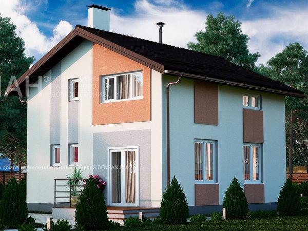 Проект дома МС-97 7,2х8,4 м из бетонных панелей БЭНПАН