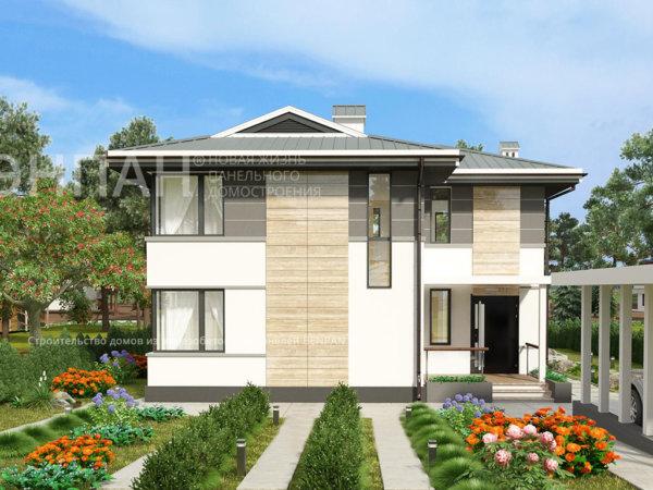 Проект дома МС-186 9,4х10,2 м из жби панелей БЭНПАН