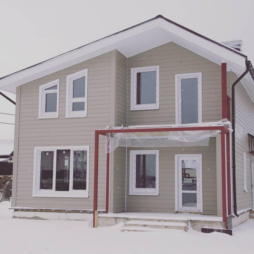 Дом из панелей БЭНПАН+ с вентилируемым фасадом