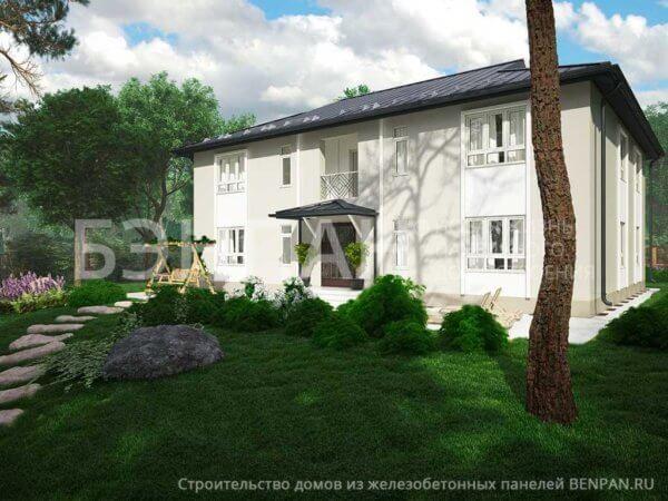 Проект многоквартирного жилого дома на 4 квартиры МС-346 с зеркальной планировкой