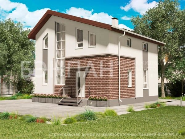 Проект железобетонного дома 2 этажа МС-146/1 8,1х9,0 из панелей
